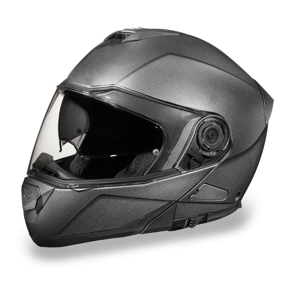 Daytona Helmets Glide-Gun Metal Gray DOT Modular FlipUp Motorcycle Helmet MG1-GM