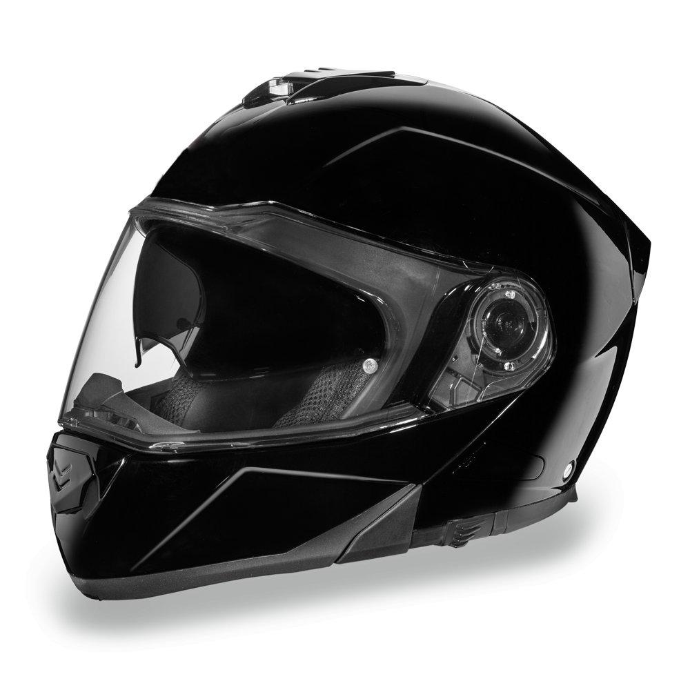 Daytona Helmets Glide DOT Gloss Black Modular Flip-Up Motorcycle Helmet MG1-A