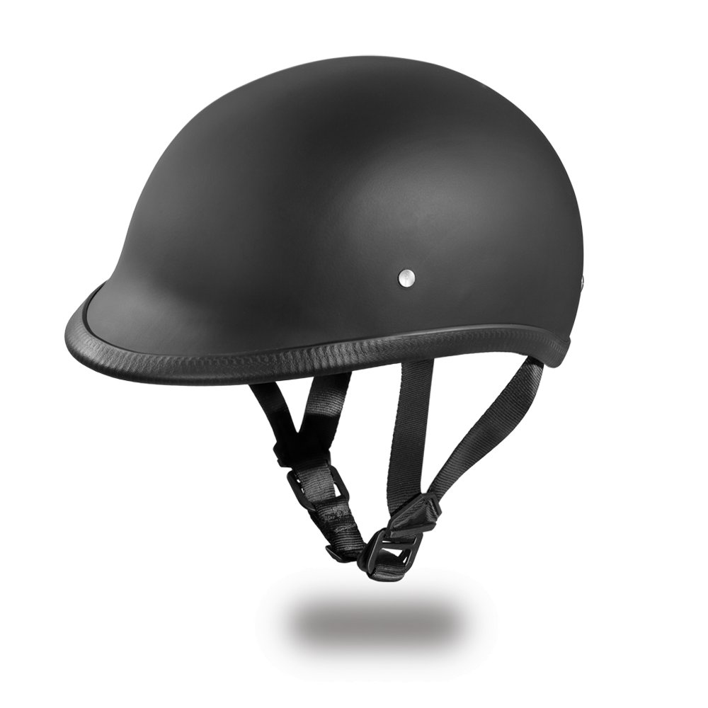 Brand New DOT Daytona Hawk Hi-Dull Black Open Face Motorcycle Bike Helmet H1-B
