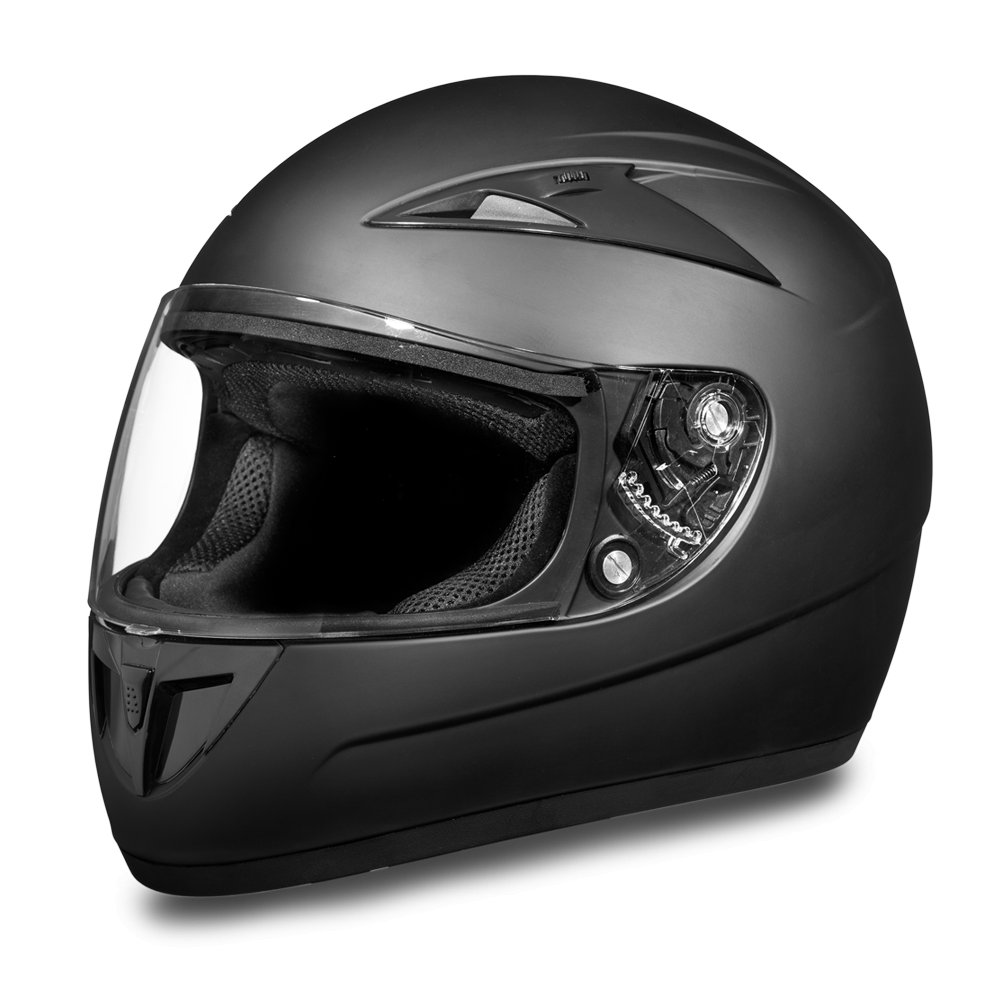 New Daytona Shadow Dull Black Full Face DOT Motorcycle Helmet All sizess F1-B
