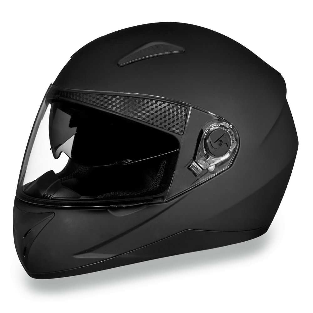 New Daytona Shifter Dull Black Full Face DOT Motorcycle Helmet All sizes S1-B