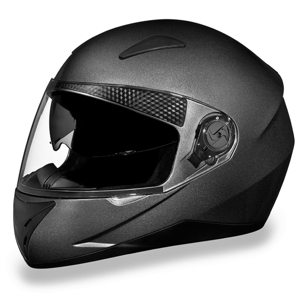 New Daytona Shifter Metal Gray Full Face DOT Motorcycle Helmet All sizes S1-GM