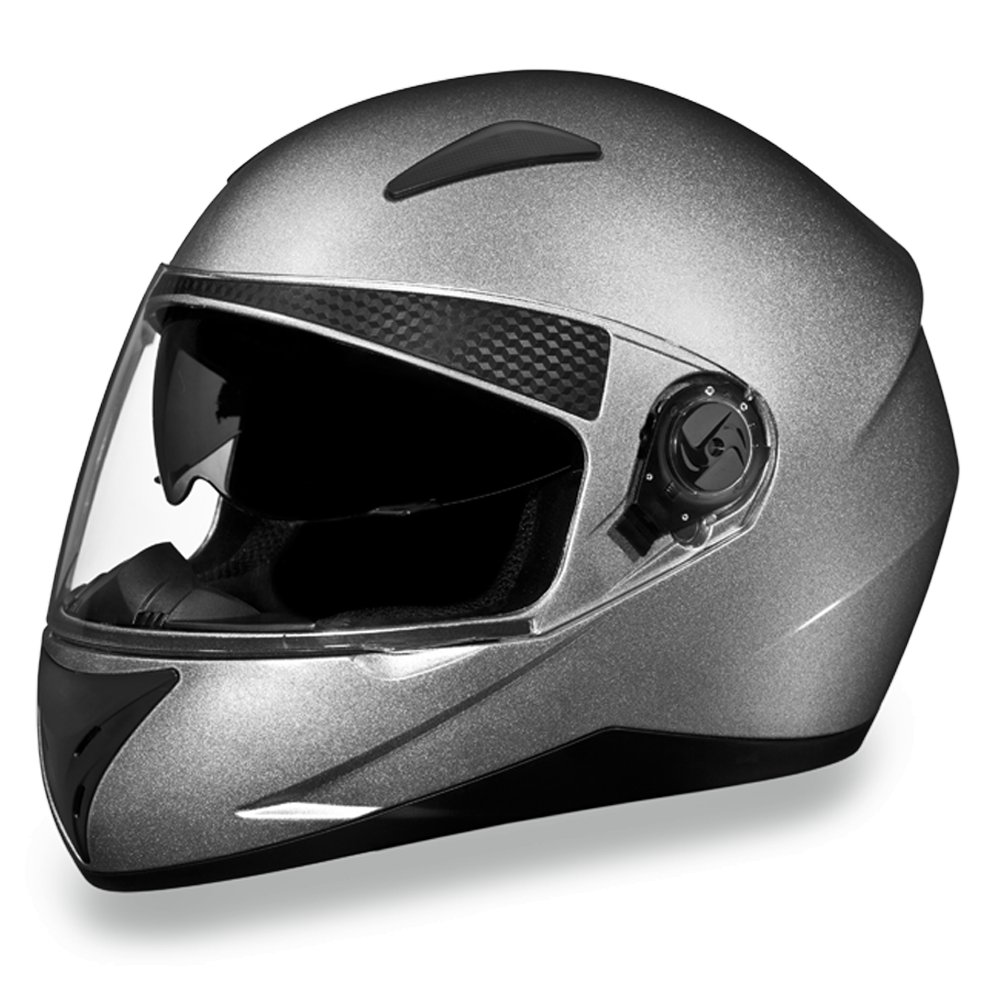 Daytona Helmets SHIFTER - SILVER METALLIC DOT Motorcycle Helmet All sizes S1-SM
