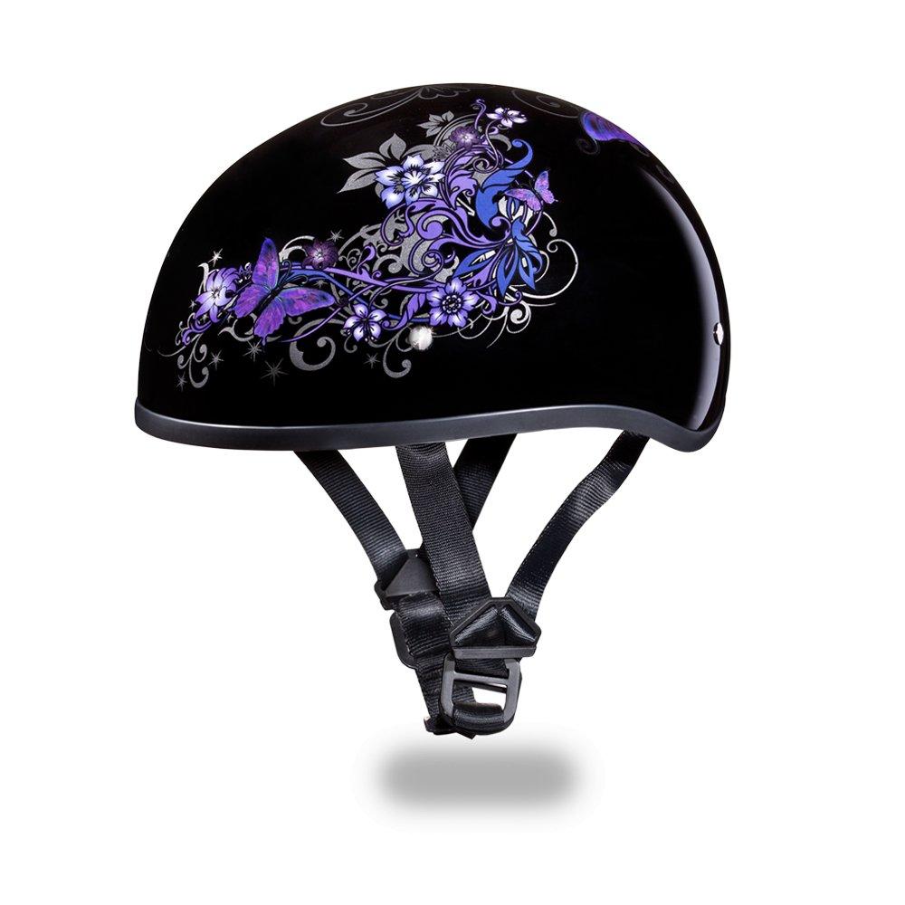 New Daytona Helmets Skull Cap W/ BUTTERFLY DOT Motorcycle Helmet D6-B