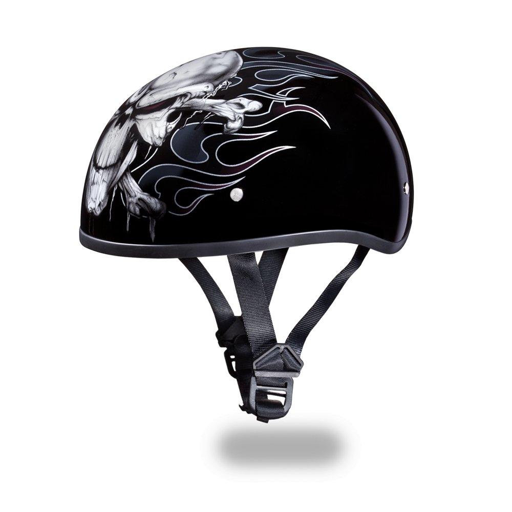 Brand New Daytona Skull CAP-W/ CROSS BONES Open Face Motorcycle DOT Helmet D6-CB