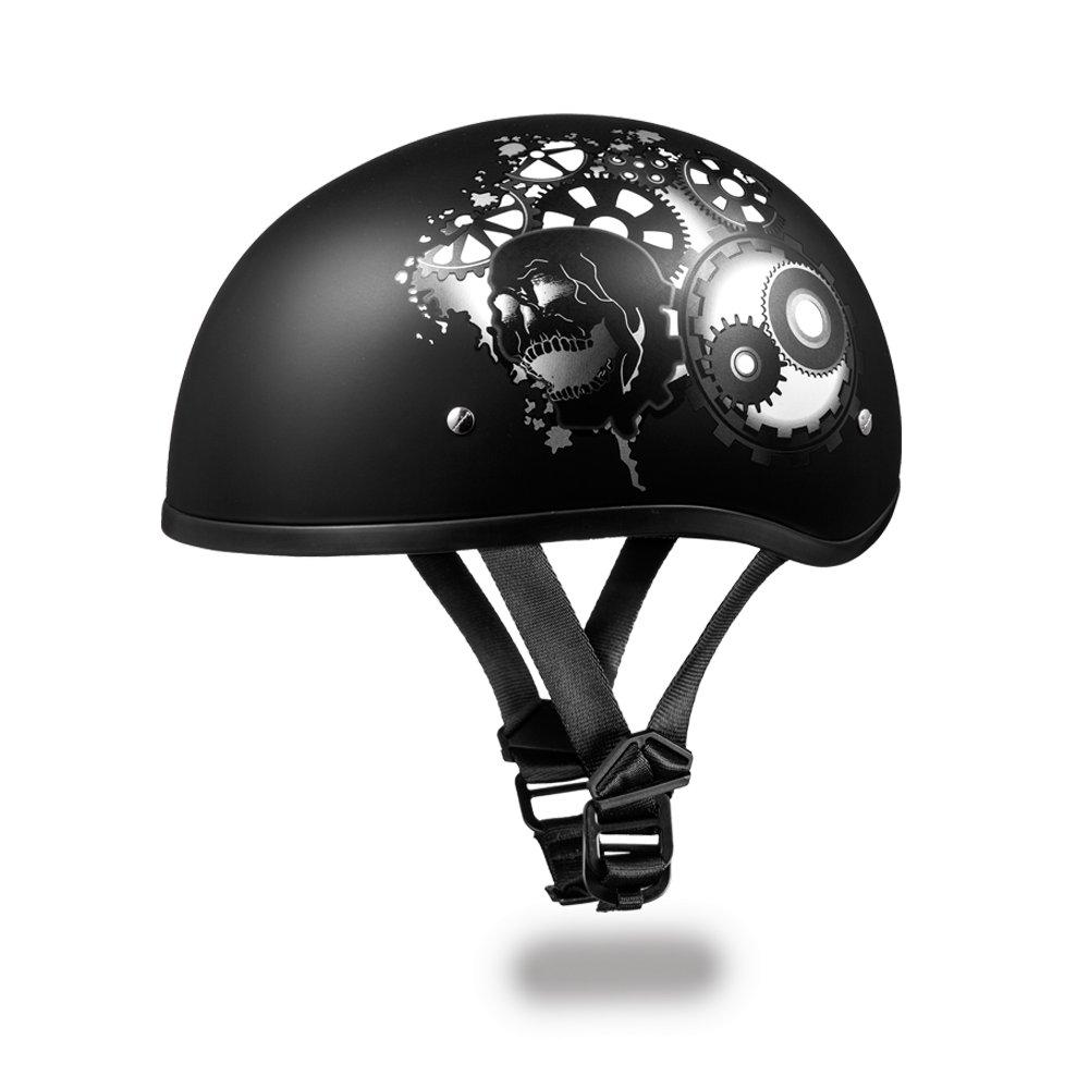 Brand New Daytona Helmets Skull Cap- W/ GEARHEAD DOT Motorcycle Helmet D6-GH