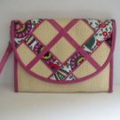 Vera Bradley Wristlet Envelope Purse NWOT Patent Trim Multi Color