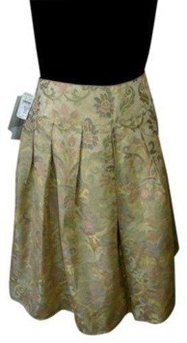 NEIMAN MARCUS Rickie Freeman Teri Jon Gold Skirt 12 Vintage