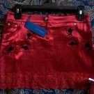 Rebecca Minkoff Skirt NWT Size 0 $248 Retail Red & Black Embroidery