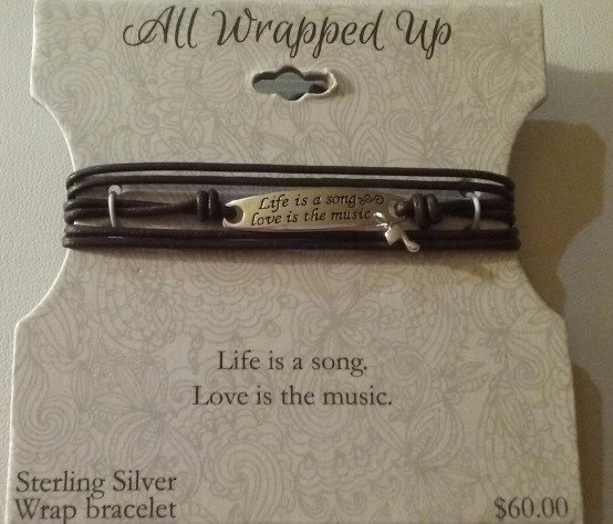 Sterling Silver Bracelet NEW ~ $60 Value~ ~ Life is a song, Love is the music