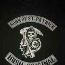 "Mens Shirt 3X ""Sons of St. Patrick Irish Original"" Dark Green Skeleton"