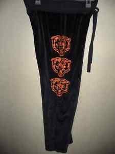 VICTORIAS SECRET Sweat Pants M NFL Chicago Bears Glitter