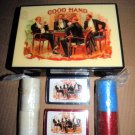 Good Hand Poker Chips & Cards  Box JOHN GROSSMAN /ENESCO Vintage