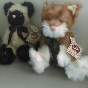 2 Boyds Bears Cats NWT Stuffed Animals