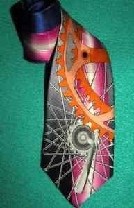 Necktie Gears Mechanical Designed Exclusively for Quentin Unworn 100% Silk