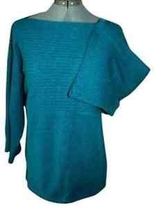 AK Anne Klein 100% Cashmere Sweater Wide Sleeve L