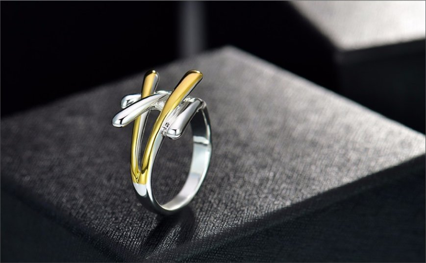 Jewelry Gold Color Cross Rings For Women Size 8 Female Party Finger Ring