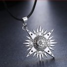 Anime Black Butler Pentacle Pentagram Pendant Lucifer Satan Logo Necklace Women Men Jewelry
