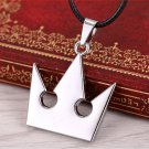 Vintage Anime Game Kingdom Hearts Crown Pendant Necklace Women Men Jewelry
