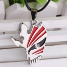 Anime Bleach Kurosaki Ichigo Empty Heart Mask Pendant silver color Plated Crystal Necklace