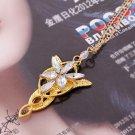 Wizard Princess Arwen Evenstar gold color Pendant Necklace Collares Evening Star Crystal Necklaces
