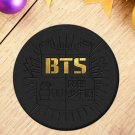 2 Styles Korea POP BTS Bangtan Boys Logo Brooch Pins Badge Broches For Clothes Backpacks