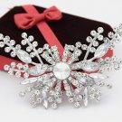 Amazing Austria Stone Crystals Big Butterfly Brooch Silver Color Elegant Women Brooch Pins