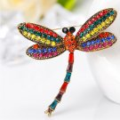 Dragonfly Rhinestone Vintage Brooches Pin Badge For Women Animal Jewelry Accessories