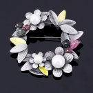 Simulated Pearl Flower Brooches For Women Fashion Nature Stone Brooches Pins