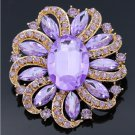 Multicolor Wholesale Large Round Crystal Rhinestone Flower Brooch Pins