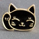 Cartoon Cute Pet Lucky Fortune Cat Metal Brooch Pins Button Pins Jeans Bag