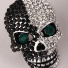 Skull sleleton brooch pin women girls biker bling jewelry gifts antique