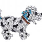 Animal brooch pins cute black dog silver plated large rhinestone brooch