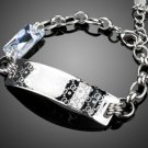Fashion G Words Top AAA+ Austria Rhinestone White Gold Color Chain Bracelet