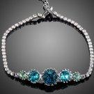 Charming 5pcs Round Stellux Austrian Crystal Bracelet for Women