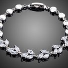Elegant Water Drop Design Marquise Cut Clear Cubic Ziconia Bracelet for Women
