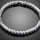Elegant Charm Clear AAA+ Round Cubic Zircon Stone Bezel Setting Bracelet for Women