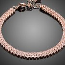 Gorgeous Rose Gold Color with 2 Rows Full Top grade Cubic Zirconia Bracelet for Women
