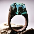 2017 Resin Secret Wood Rings For Women Magic Forest Wooden Ring Men Jewelry Fashion Gray Color