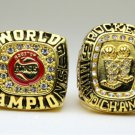 One Set 2 PCS 1994 1995 Houston Rockets National Basketball Championship Ring 10 size US