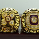 One Set 2 PCS 1987 1988 Los Angeles Lakers National Basketball Championship