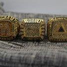 3PCS 2000 2001 2002 Los Angeles Lakers Basketball world championship ring 8-14S