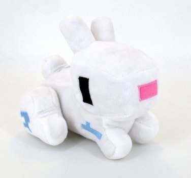 17cm Minecraft Game Rabbit Plush Toys White Minecraft Cartoon Game Stuffed Plush Toys