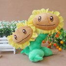 18CM Twins Sunflower Plush Toys Doll Top Games Plants vs Zombies Soft Stuffed