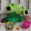 Split Pea Plush Toys 13-20cm Plants vs Zombies Soft Stuffed Plush Toys