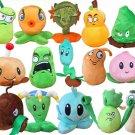 15pcs/set Soft Plush Dolls Toys Plants vs Zombies 15-20cm Plants Stuffed Plush Toy