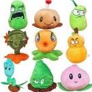 9pcs/set Plants vs Zombies Stuffed Plush Toys Doll Plants vs Zombies Games 2