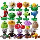 20pcs/set Plants vs Zombies Soft Plush Toys 13-20cm Game Plants vs Zombies Stuffed toy