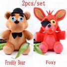 2pcs/lot Five Nights At Freddy's 4 FNAF Freddy Fazbear Bear & Foxy Plush Toys