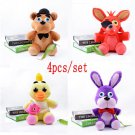 4pcs/lot Five Nights At Freddy's 4 FNAF Freddy Fazbear Bear & Foxy & Chica & Bonnie